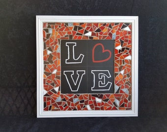 LOVE Mosaic Word Sign