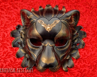 RESERVED for Ian... custom Regal Lion leather mask