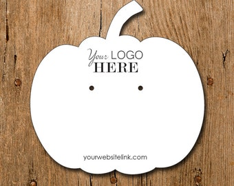 Pumpkin Shape | Custom Earring Display Cards with Your Logo | DS101