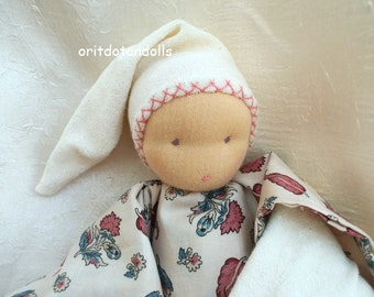 Waldorf doll for babies and toddler handmade of natural materials 12inch