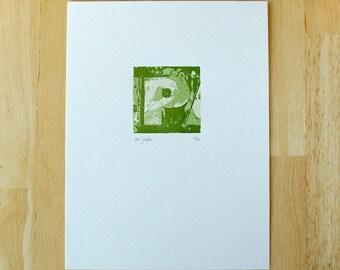 Letter P — Letterpress Print