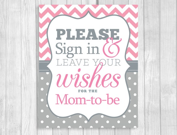 please sign in leave your wishes 8x10 printable baby shower mom to