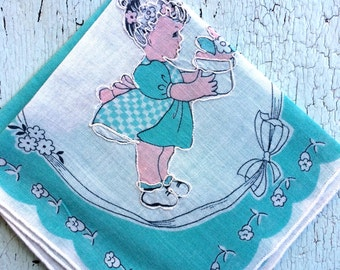 Little Girl Vintage Handkerchief