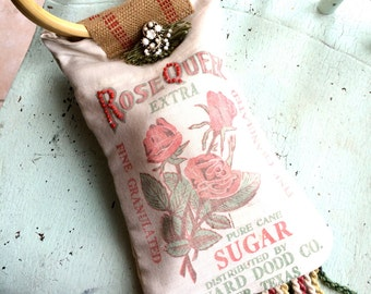 Vintage Sugar Sack Purse Tyler Texas