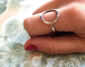 Circle ring, Dainty ring, Minimalist ring, round ring, boho ring, sterling silver ring, Simple ring, hipster ring - Truth Revealed R2299