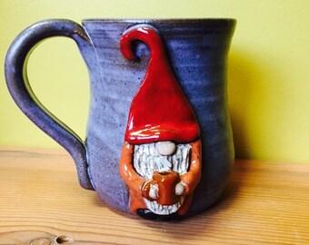 Coffee Drinking Gnome Mug