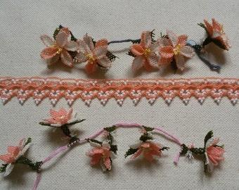 Salmon color lovely oya flowers