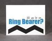 Will You Be Our Ring Bearer Card - Match Wedding Color and Style, Standard Shipping