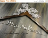 SALE 20% OFF Personalized Name Hangers Custom Name Hangers Bridal Name Hangers Bridal Accessories Wedding Dress Hangers