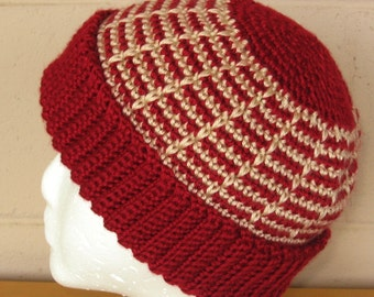 Adult Hat - Winter Crochet Beanie with Cuff - Made-To-Order - Choose Size, Main Color - Hand-Crocheted Caron Simply Soft - Winter Accessory