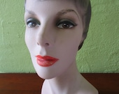 Mannequin Head Brown Eyes Classic Female Beauty Store Display Hats
