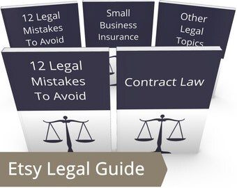 Etsy Seller Legal Help Bundle - ALL DIY Legal Advice, Legal Information, Legal Aid, Legal Terms, Legal Advisor, Etsy Copyright, Etsy Legal