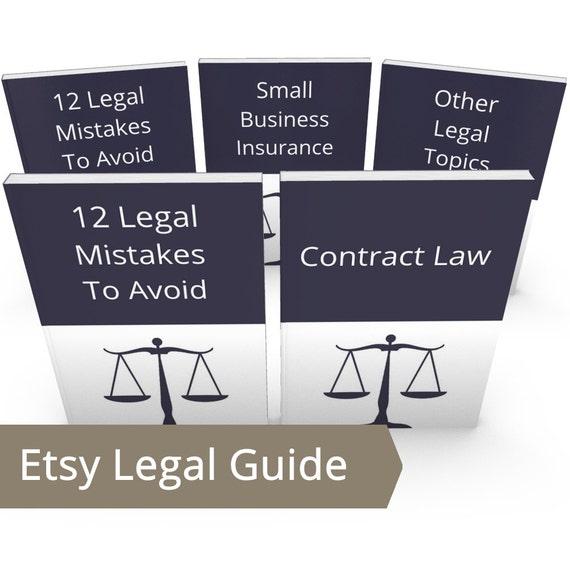 Etsy Seller Legal Help Bundle - ALL DIY Legal Advice, Legal Information, Legal Aid, Legal Terms, Legal Advisor, Etsy Copyright, Etsy Legal