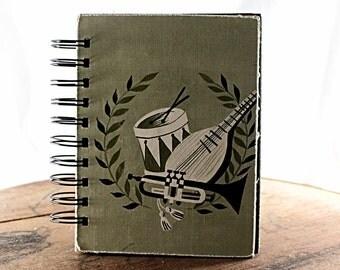 Make Mine Music - Wire-Bound Recycled Art Journal