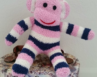 Ava the sock monkey ready to ship