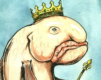 Blobfish King (an original hand painted king)
