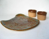 Sushi Plate and Sake Cups Clearance Priced