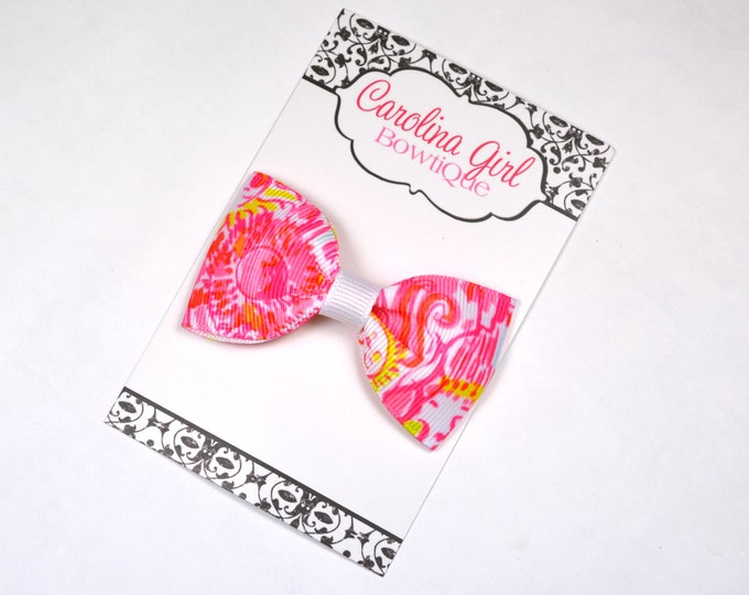 """Kinis in the Keys ~ 3"""" Hair Bow Tuxedo Bow ~ Lilly Inspired ~ Simple Bow ~ Boutique Bow for Babies Toddlers ~ Girls Hair Bows"""