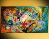 Original wall art interior design giclee canvas print Dancing Butterflies Home & Living print Wall Decor Housewares Wall hangings Jewish art