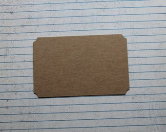 "4 bare chipboard notched corner nameplate, card, placecard die cut 3 7/8"" wide"