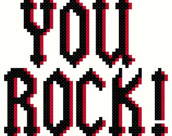 You Rock Cross Stitch Pattern
