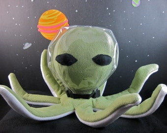 The Giant Green Space Alien Octopus Plush Doll Toy