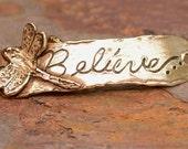 Dragonfly Believe Bracelet Link in Gold Bronze, D54