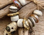 NUDE - Handmade Lampwork Bead Set - 11 Beads