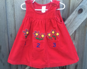 Corduroy 123 Dress 2T