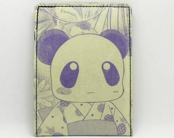Sewn Comic Book Wallet - Authentic Japanese Anime / Manga - Panda, Girl in Kimono