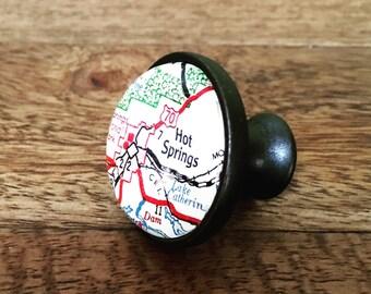 Hot Springs Map Cabinet Knob - Custom Drawer Pull - DIY - Kitchen Remodel - Oil-Rubbed Brass - Renovation - HGTV