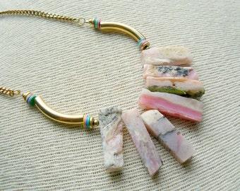 Ready to Ship- Persimmon- Long Boho Necklace