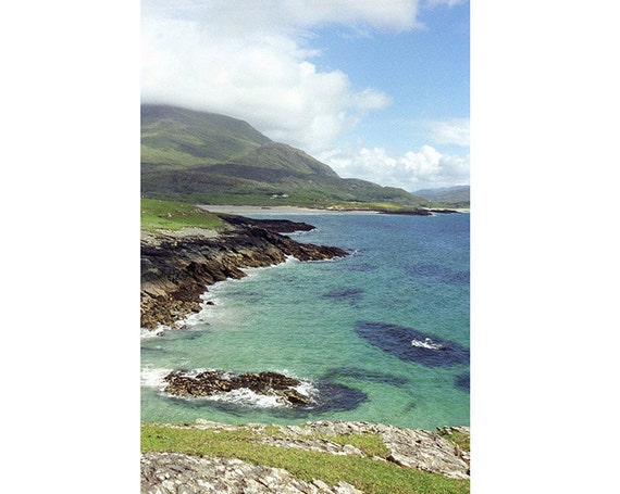 Ireland Print, Irish Photograph,  Beach Landscape Photo, Seascape, Nautical Decor, Cottage  Wall Decor, St. Patrick's Day