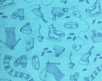 Winter fun fabric - 1 1/2 yards