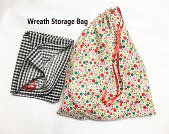 Wreath Storage Bag - For Previously Purchased Red Marionette Wreaths