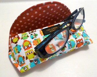 Owl - Eyeglass Case - Sunglass Case - Magnetic - Gifts for Readers - Owl Gifts