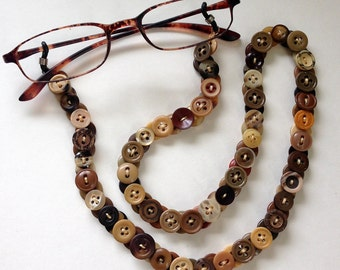 Vintage Button Eyeglass Leash