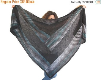 WINTER SALE NEW! Oversize Mohair Triangle Shawl by Afra