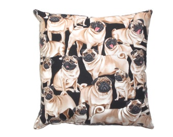 Pug Pillow Decorative Throw Pillow  Home Decor Bedding
