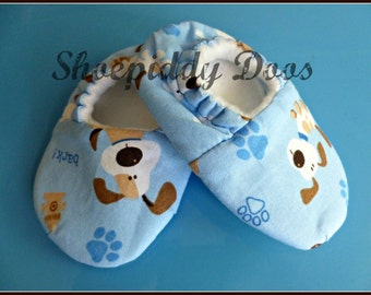 Puppy Fun - Soft Baby Shoes, Size 6-12 Months