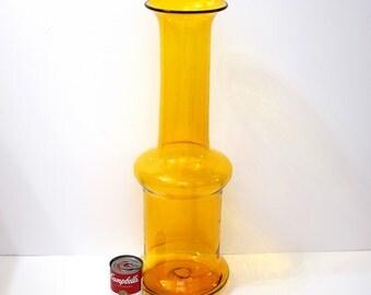 Charming Blenko 5717 Art Glass Jonquil Architectural Floor Vase By Wayne Husted,  Circa 1959 U2013 1962