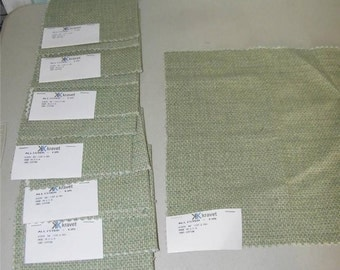 8 Kravet Allister Fabric Swatch Green Check Checked Cotton 11896