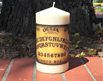 Ouija Board 3x6 Pillar Candle