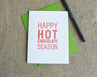 Letterpress Holiday Card - Happy Hot Chocolate Season - HPS-145