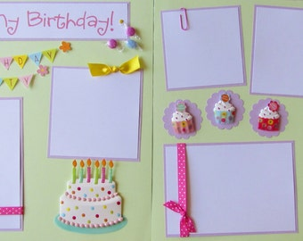 IT'S MY BIRTHDAY girl 12x12 Premade Scrapbook Pages -- BiRTHdAY PaRTy
