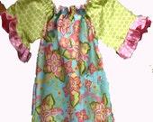 RESERVED for MariaK CUSTOM HANDMADE Size 2 Peasant Dress