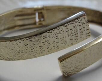Vintage Gold Tone Clamp Bracelet