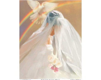 The Bride Has Made Herself Ready - Inspirational - Digital art PRINT - Artwork by Lisa MD Skinner