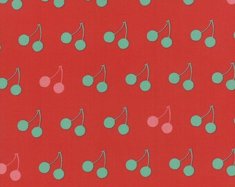 SALE fabric, Cherry Fabric, Cotton fabric by the yard, Choose your cut