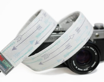 Arrow Camera Strap, Blue Arrow Tribal Camera Strap for DSLR - Arrows Blue